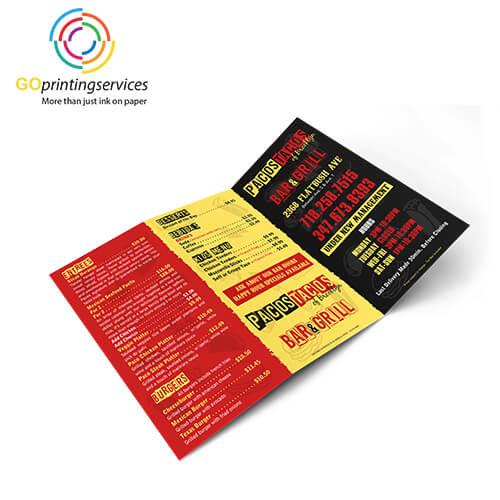 Printed-menus